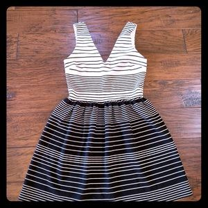 Love...ady white and black striped dress